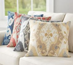 Sarina Ikat Print Pillow Cover #potterybarn