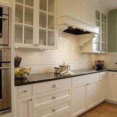 Easy Clean Subway Tile Backsplash Gl Doors On Cabinets To Display Mom S Treasures