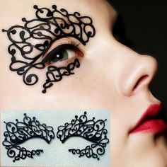 1 pair/pack Fetching carbon fiber cut black lace face waterproof artificial false eyelashes sticker .18.17900.Free shipping