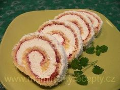 + Kokosová roláda Sushi, Cheesecake, Deserts, Food And Drink, Rolls, Cooking, Ethnic Recipes, Kitchen, Cheese Cakes