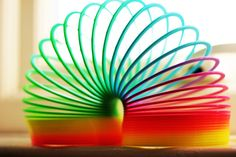Slinky! I used to toss this down the stairs in the 90's