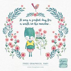Cute Free Clip Art from Lisa Glanz. Perfect for your next design project. So adorable!