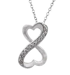 Infinity Open Heart Necklace
