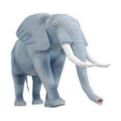 Elefante Papercraft. Plantillas gratuitas pinchando en la imagen.