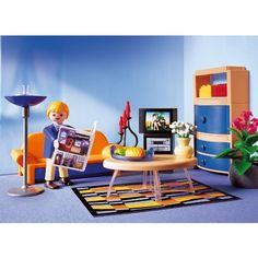 1000 images about playmobils on pinterest playmobil for Playmobil living room 4282