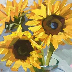 Painting Inspiration, Art Inspo, Visual Elements Of Art, Sunflower Art, Realistic Paintings, Fine Art Gallery, Art Tutorials, Amazing Art, Klimt