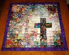 Easter Quilt - Christian Cross -