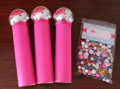 Microphone Craft Kit, Craft for Kids, DIY, Bling Your Microphone Craft for Pop Star Party, Set of 3 Craft Kits For Kids, Diy For Kids, Crafts For Kids, Microphone Craft, Glue Crafts, Diy Crafts, Pop Star Party, American Girl Parties