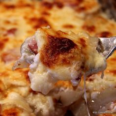 Scalloped potatoes and ham, an excellent recipe for an everyday meal or potluck dinner. One of my favorite comfort foods that is easy made from scratch.