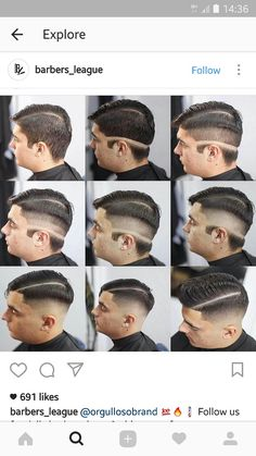 Very cool way to keep things in order - gutaussehend Barber Haircuts, Haircuts For Men, Hair And Beard Styles, Short Hair Styles, Barber Tips, Gents Hair Style, Hair Cutting Techniques, Hair Barber, Shaved Hair Designs