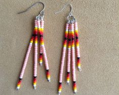 Image result for Wing Patterns Native Seed Bead Earrings