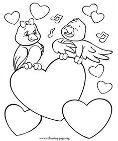 Free Print Valentine Coloring Pages