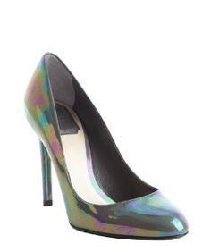 Christian Diorgraphite Sublime iridescent leather pumps