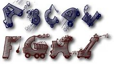 Drivers alphabet font - applique and embroidery