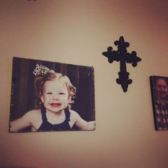 DIY wood photo! Modge podge, printed photo, paint edges and sand for rustic look! Super easy!