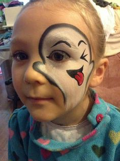 Cute ghost face paint Halloween