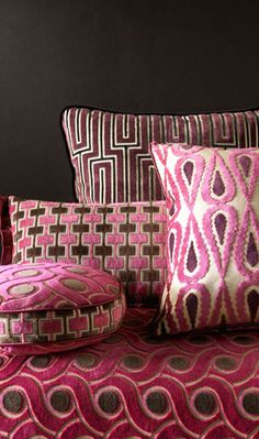 c39237114c1 marinetti velvets from osborne & little #fabrics #textiles Rose Brun,  Osborne And