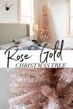 I decided on a Rose Gold Christmas Tree this year and it turned out amazing! I think I'll have to go all out Rose Gold Christmas Decor all over the house next year!