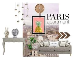 """""""My parisian apartment."""" by princesslala-xx ❤ liked on Polyvore featuring interior, interiors, interior design, home, home decor, interior decorating, WALL, Sonneman, Noir Trading and parisapartment"""