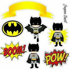topo Batman Birthday, Batman Party, Superhero Birthday Party, 4th Birthday Parties, Baby Batman, Batman Lego, Batman Cake Topper, Umbrella Decorations, Donut Party