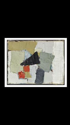 Nicolas De Staël - Oiseau noir, 1950 - Huile sur toile - 12,4 x 16,1 cm