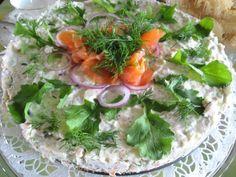 Salty Salmon Mousse Cake
