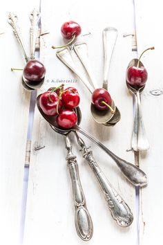 spoons and cherries