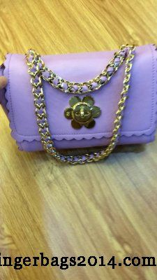 Latest Mulberry Fall 2014/Mulberry Cecily with Flower lock shoulder bag Lavender
