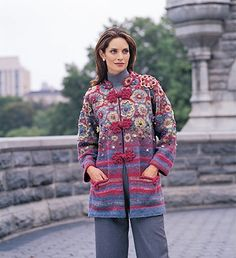 Heirloom Jacket pattern by Nicky Epstein and Kaffe Fassett