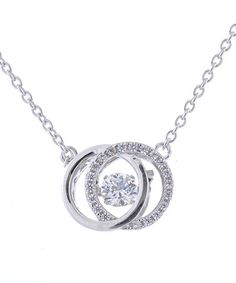 Look what I found on #zulily! Swarovski Zirconia & Sterling Silver Double Circle Necklace #zulilyfinds