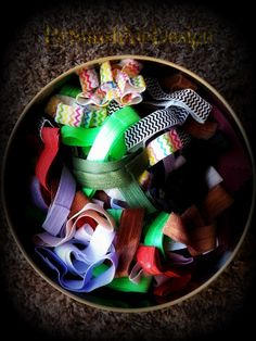NO KNOT Pain Free Hair Ties made from FOE set by BySunshineDesign, $2.25