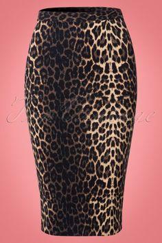 b91706fc8e4e8f Bunny Panthera Leopard Pencil Skirt luipaard print rok strak bruin zwart  beige brown black beige print
