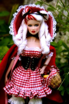 Grandma what big teeth you have...............Gorgeous Little Red Riding hood:-)