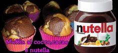 Ricetta - Muffin con cocco,cacao e nutella (con video)
