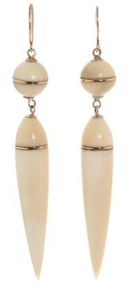 Ivory Victorian Earrings