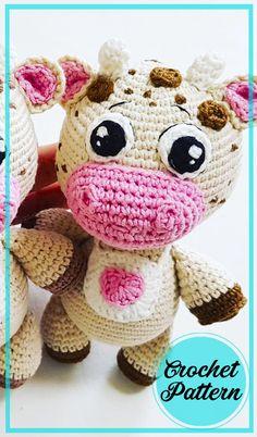 Bobble Stitch, Slip Stitch, Cow Pattern, Free Pattern, Half Double Crochet, Single Crochet, Crochet Projects, Crochet Ideas, Crochet Patterns Amigurumi