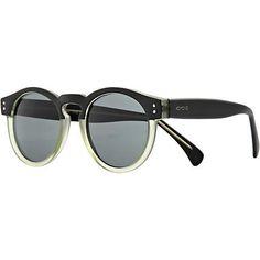 Black Komono two tone round sunglasses - retro sunglasses - sunglasses - men