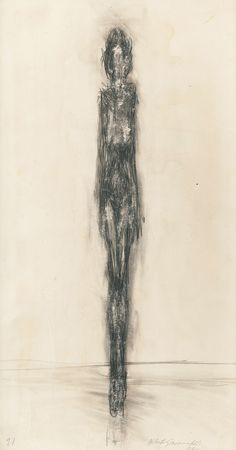 Alberto Giacometti, female nude drawing, 1946