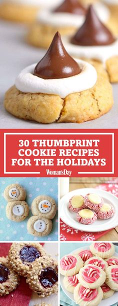 Save these thumbprint cookie recipes for later by pinning this image and follow Woman's Day on Pinterest for more.