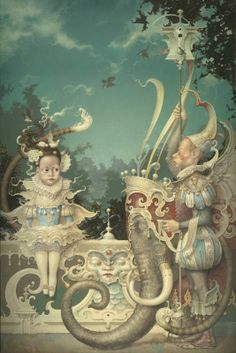 """Little Sister"" ~ Daniel Merriam ~ Watercolorist Extraordinaire"