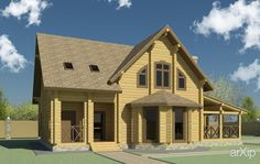 Индивидуальный жилой дом с баней #architecture #construction #2floors_6m #housing #minimalism #100_200m2 #facade_wood #cottage #mansion #phrase_44547