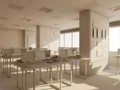 Cinema 4D - Modeling with Polygons - Office Interior Tutorial on Vimeo