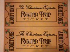 Polar express printable ticket - I plan on printing these ...