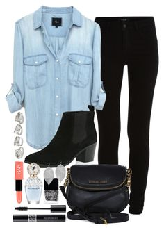 """""""Outfit 69"""" by jessicafm ❤ liked on Polyvore featuring VILA, River Island, Michael Kors, Christian Dior, Marc Jacobs, NYX, Butter London and Humble Chic"""