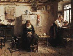 Gerolamo Induno | Donne in casa