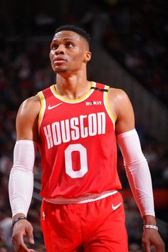 Russell Westbrook of the Houston Rockets looks on during the game against the Philadelphia on January 2020 at the Toyota Center in Houston, Texas. Mba Basketball, Basketball Leagues, Basketball Association, Basketball Players, Nba League, Nba Season, Russell Westbrook, Dallas Mavericks, Sport