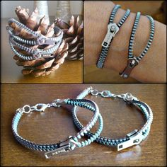 Zipper, Facebook, Bracelets, Accessories, Jewelry, Fashion, Moda, Jewlery, Bijoux