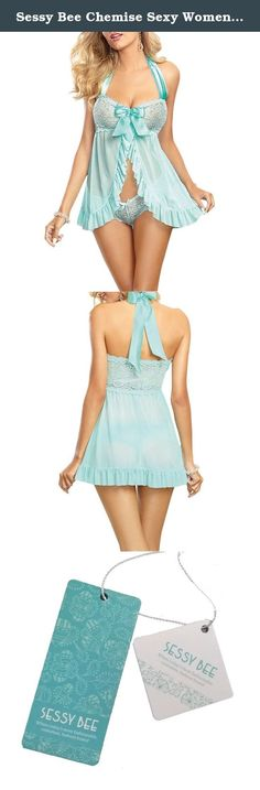 Sessy Bee Chemise Sexy Women's Lingerie Babydoll Playful Dress G-string Set. Features: 100% brand new in good condition Color:Mint Blue,just as pictures show. Material:Lace, Gauze Made of high quality material. Very comfortable to wear.low cut halter neck,hot and sexy. Perfect gift for ladies ,wife and girlfriendIt is suitable for nightwear, sleepwear. You will be the most sexy beauty wearing this lingerie package include : 1pcs sexy Dress+G-string.