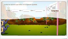 """""""Unidades de longitud mayores que el metro"""" (Actividad interactiva de Matemáticas de Primaria) Map, Maths Area, Interactive Activities, Teaching Resources, Location Map, Maps"""