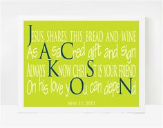 Communion Gifts for Boys, First Holy Communion Gifts, Personalized First Communion Gifts, Jackson  8x10